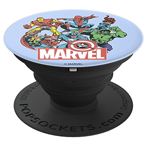 Marvel Heroes Of Today Group Action Shot - PopSockets Grip and Stand for Phones and Tablets