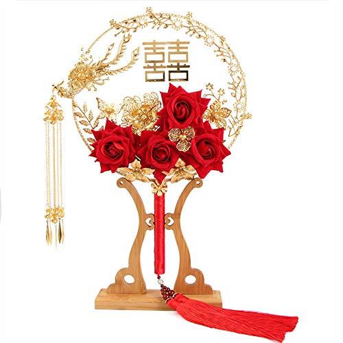 Chinesische Hochzeit handgemachte Blumensträuße des alten Stilhochzeitsgruppenfans