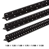 Rulex 30cm triangolare Righello per scala 1:1 1:10 1:2 1:20// 1:5 1:50 1:100 1:200// 1:500 1:1000 1:1250 1:2500