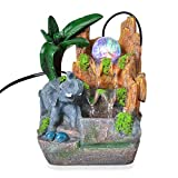 Shop LC Delivering Joy Home Decor Multi Color Glass LED Light Elephant's Waterfall Fountain for Home