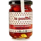 Peperoni Rossi in Lacrima - 122 gr/65 unità - Peperoni Rossi in Conserva - Ingrediente Perfetto per il tuo Pranzo - Senza OGM - Prodotto Gourmet La Pastora