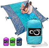 Live Infinitely Sand Free Beach Blanket- 7 Person 9' x 10' Sand...