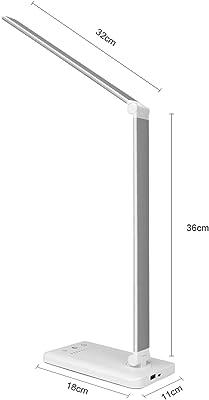 IADZ Lámpara de Mesa, luz de Lectura de Escritorio Regulable Continua, lámpara de Mesa LED con Interruptor táctil Giratorio Plegable