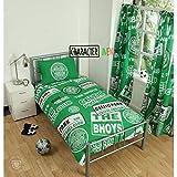 Celtic - Juego de Cama diseño Parches del Club (Individual) (Verde)