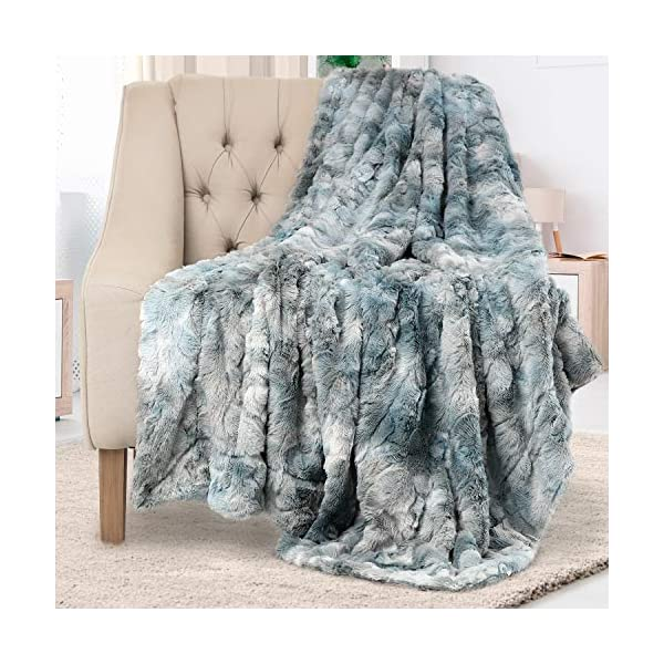 Everlasting Comfort Luxury Faux Fur Throw Blanket – Ultra Soft and Fluffy –...