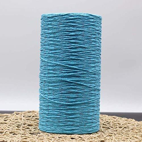 AILIFE 500G/Roll Raffia Straw Yarn Dyed Crochet Yarn For Knitting Summer Straw Hat Handbags Cushions Baskets Material