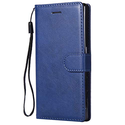 Hülle für Sony Xperia Z5 Handyhülle Schutzhülle Leder PU Wallet Bumper Lederhülle Ledertasche Klapphülle Klappbar Magnetisch für Sony Xperia Z5 - ZIKT051763 Blau