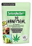 Seitenbacher Bio Hanfmehl Vegan Reich an Protein und Ballaststoffe Glutenfrei Lactosefrei Gemahlen Omega Fettsäuren, 330 g -