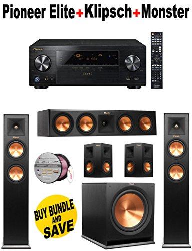 Pioneer Elite-VSX80 + 2 Klipsch-RP250FBK + Klipsch-RP440CBK + 2 Klipsch-RP240SBK + Klipsch-R110SW + Monster Cable-PLATXPMS50 Bundle