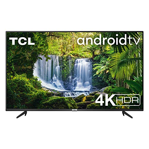 TCL TV 50P616 50 Pollici, 4K HDR, Ultra HD, Smart TV con Sistema Android 9.0, Design Senza Bordi, Micro Dimming PRO, Smart HDR, HDR 10, Dolby Audio, Compatibile con Google Assistant & Alexa