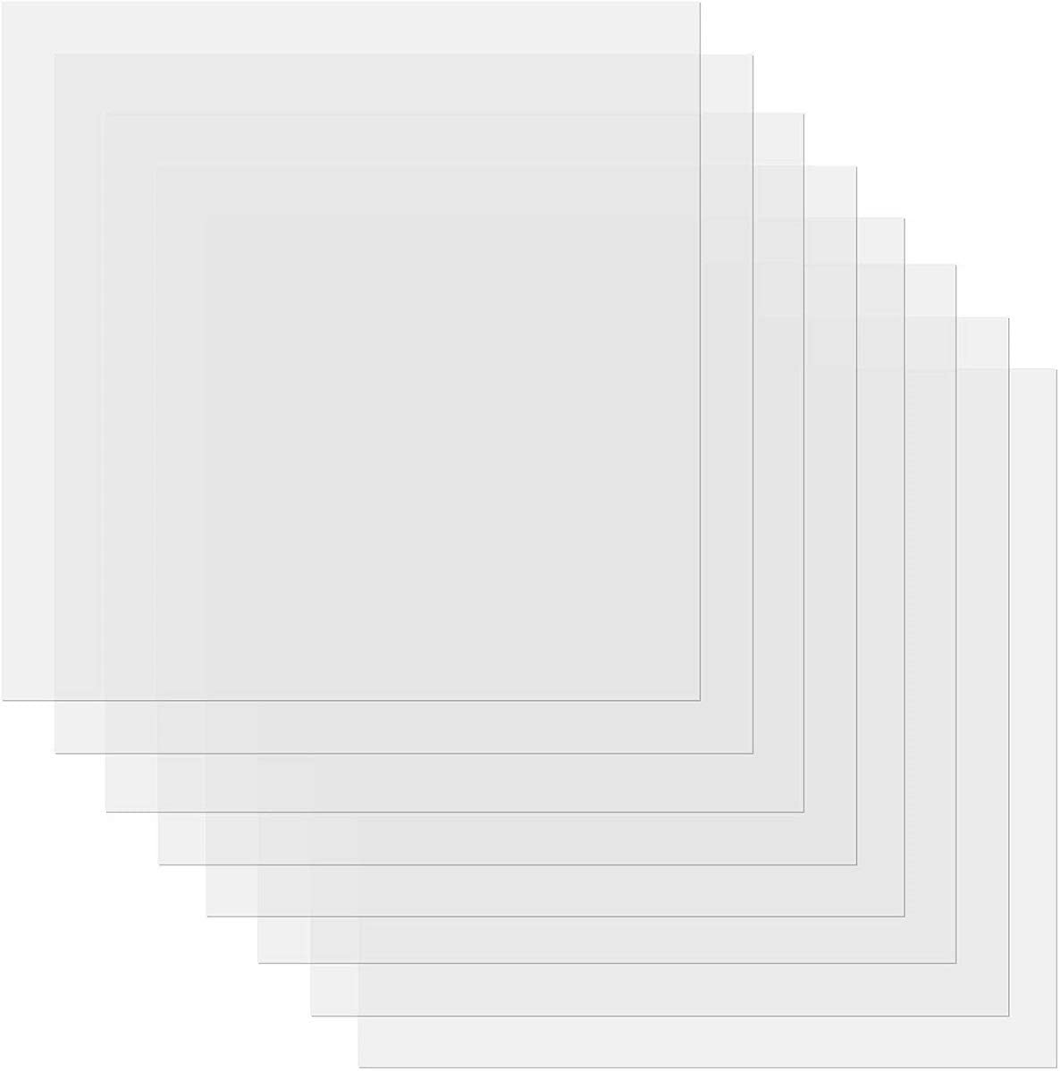 6 mil Clear Stencil Sheets 12 X 12 Inch - 15 Pieces - Craft Plastic, Blank Mylar Templates, Square Blank Stencil Material Mylar Template Sheets for Stencils