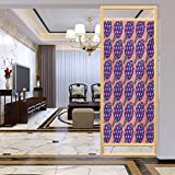 Adhesivo para ventana con protector solar opaco, alcachofas romanas violeta sobre fondo de coral Org, película de vidrio de privacidad para el hogar y la oficina, 23.6 x 47.2 pulgadas