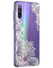 Oihxse Mandala Flores Encaje Patrón Serie Case Compatible con Huawei Mate 30 Pro Funda TPU Silicona Suave Protector Ultra Slim Anti-Rasguño Transparente Carcasa (A8)