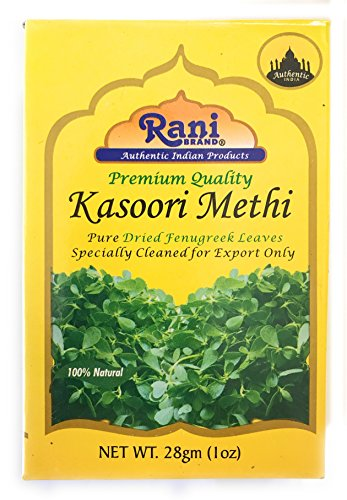 Rani Fenugreek Leaves Dried, All Natural (Kasoori Methi) 28g (1oz) ~ Gluten Free Ingredients | NON-GMO ~ Vegan