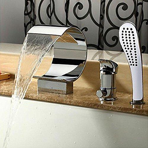 AllureFeng Mitigeur de lavabo de salle de bain Chute d'eau Robinets d'arrosage Robinets de baignoire Chutes d'eau Robinets de baignoire Ensembles de capot à main