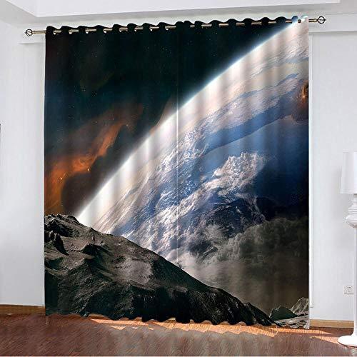 BUFUXINGMA Vorhang Blickdicht 3D Verdunkelungsvorhang mit Ösen,Thermogardine für Wohnzimmer Schlafzimmer...