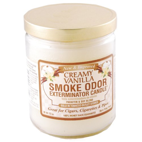 Odor Exterminator Candle Creamy Vanilla 13once by Smokers Candle