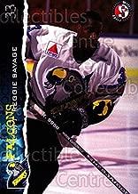 (CI) Reggie Savage Hockey Card 1996-97 Springfield Falcons 19 Reggie Savage