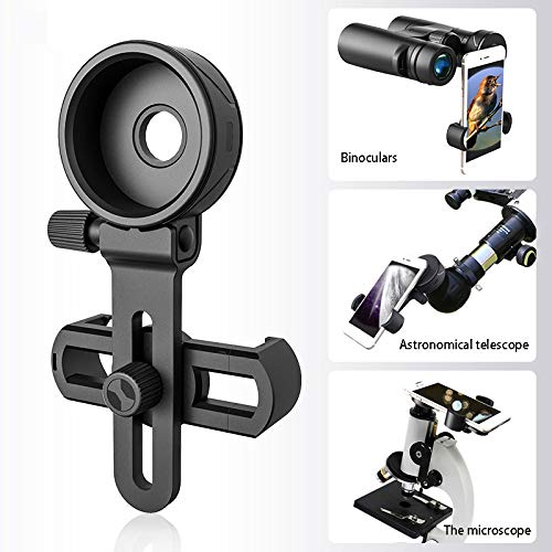 NUCHE Cell Phone Adapter with Spring Clamp Mount Monocular Microscope Binoculars Telescope Mobile Phone Clip