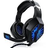 CSL - Gaming Headset für PC - inkl. Mikrofon Kopfhörer - USB Gamer Headphone - Kabelfernbedienung Externe Soundkarte - Für