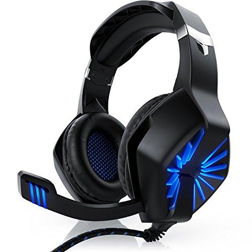 CSL - Gaming Headset für PC - inkl. Mikrofon Kopfhörer - USB Gamer Headphone - Kabelfernbedienung Externe Soundkarte - Für PC sowie PS4 PS5
