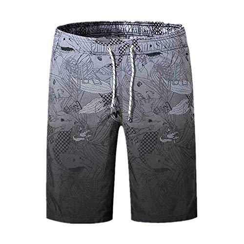 DREAMING-Pantalones Sueltos De Playa con Degradado para Hombres Chaquetas De Secado Rápido con Estampado Completo Pantalones Cortos para Hombres XXXL