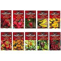 Kit semillas de chile-Bhut Jolokia Red,Carolina Reaper,Moruga Scorpion,Lemon Drop,Devil's Tongue,Cherry Bomb