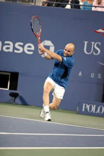 Posterazzi Poster Print Andre Agassi Inside for U.S. Open Tennis Tournament Arthur Ashe Stadium Flushing Ny September 07 2005. Photo by Rob RichEverett Collection Celebrity (8 x 10)