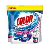 Colon Total Power Gel Caps Vanish - Detergente para lavadora con agentes quitamanchas, formato cápsulas - 50 dosis