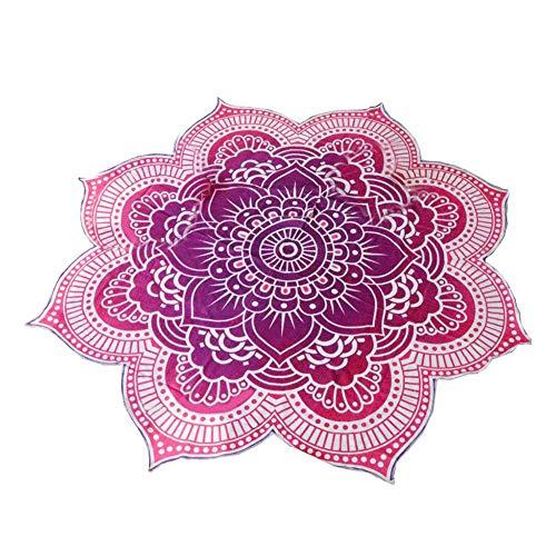 Ruiting Mandala Redonda Tapiz Lotus patrón de la Toalla de Playa Yoga Mat Manta Mantel Decoración de Bohemia