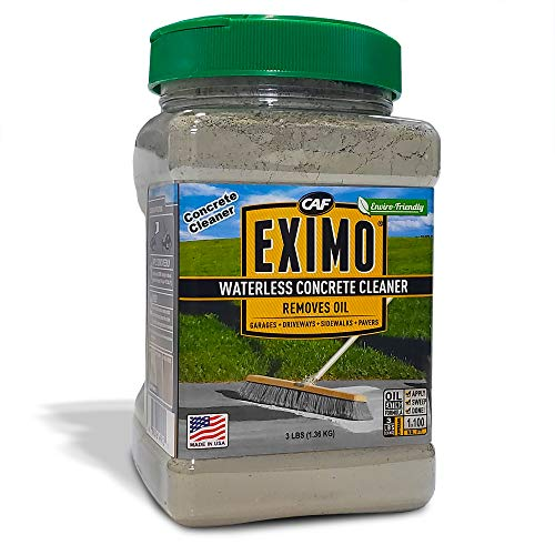 EXIMO® Waterless Concrete Cleaner for Driveway, Garage, Basement, and Walkway Surfaces, 3 lbs., Advanced Stain Remover for Oils and Other Petroleum Stains