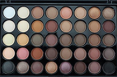 Battnot Lidschatten Palette 40 Farben Kosmetik Puder Lidschatten-Palette Make-up Set Matt verfügbar Eyeshadow (Schwarz1)