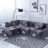 Funda de sofá nórdica, Conjunto de algodón, Funda de sofá, Funda de sofá elástica para Sala de Estar, sofá Chaise Longue en Forma de L A16, 3 plazas