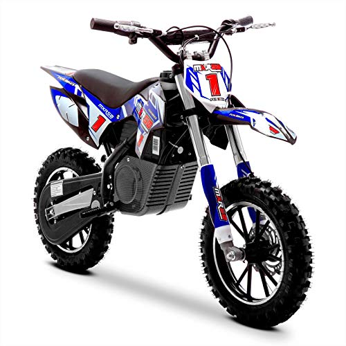 Funbikes MXR 500w Lithium blau Kids Elektro Dirt Bike - Mini Motorrad Scrambler, blau, Unspecified
