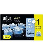 Braun Clean&Renew Cartuchos de recarga para afeitadora eléctrica hombre, 5+1 unidades, compatibles con todos los centros SmartCare Y Clean&Charge