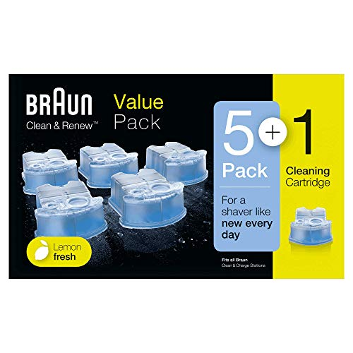 Price comparison product image Braun Clean and Renew Refill Replacement Cartridges for Electric Shaver,  5+1 Pack