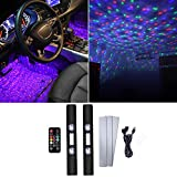 LECRAT LED Starry Atmosphere Light Car Interior Ambient Lights Chargeable USB Plug Multicolor Neon Accent Lighting Kit Wireless RGB Led Star Decoration Light for Room Camping Party Celebration Karaoke