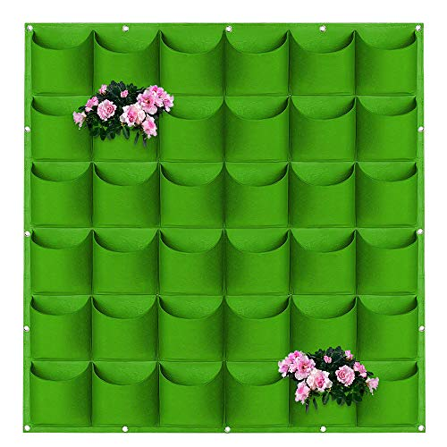 Fioriera Verticale da Parete, ZoneYan Tasche Feltro Piante, Borse per Fioriere Sospese, Sacchetti per Piante, Fioriera Verticale, Wall Grow Bag, Decorazione Giardinaggio Planter (verde)