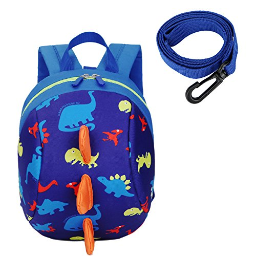 Cosyres Toddler Dinosaur Baby Backpack with Reins, Kids Safety Harness Backpack Boys