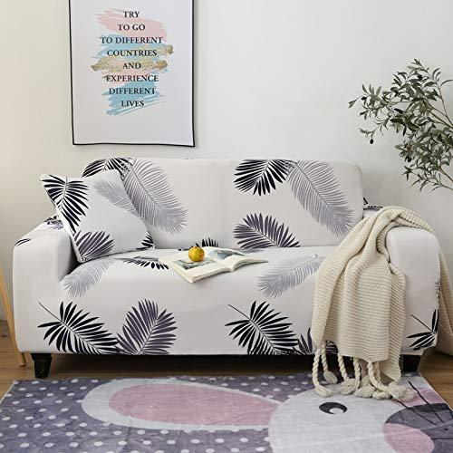 Funda de sofá con Funda Impresa, Utilizada como Funda de sofá en la Sala de Estar, Funda de sofá Antideslizante Lavable y a Prueba de Polvo A18 de 4 plazas