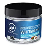 GlowAmaze Activated Coconut Teeth Whitening Charcoal Powder - Pure & Safe Natural Whitening - Excellent For Teeth & Gum Health - Strengthens Enamel & Improves Mouth Health - 2 fl oz / 59 ml (2 oz)