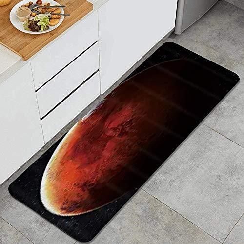 NANITHG Tappeti Cucina Antiscivolo Tappeti per Cucina Lavabile Tappetino Bagno Zerbino Tappeto Cucina Passatoia,Sistema solare pianeta Marte