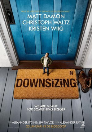 DOWNSIZING – Matt Damon – Dutch Movie Wall Poster Print - A4 Size Plakat Größe