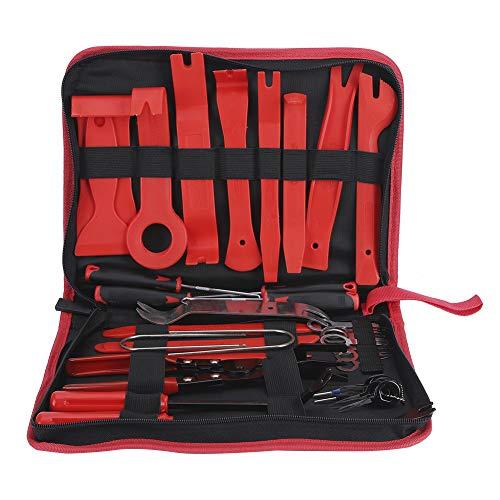 iFCOW Kit de herramientas de eliminación de bordes, radio de audio, decoración de puerta, panel de salpicadero, instalación de palanca de mano
