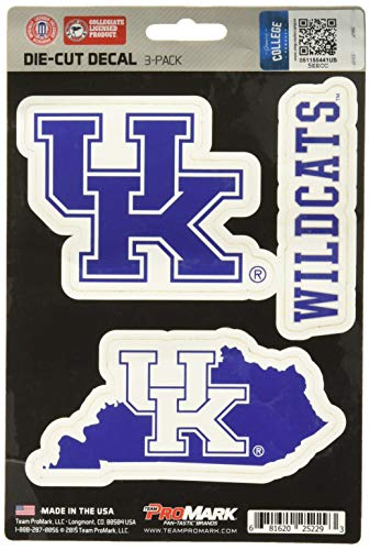 NCAA Kentucky Wildcats Team Decal, 3-Pack