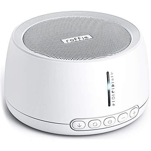 Roffie White Noise Machine, Einschlafhilfe, Weißes Rauschen Naturgeräusche Baby Kinder Erwachsene mit 30 Klängen 3 Timing für Insomniac Tinitus Büro Reisen Zuhause, Soundtherapie, ohne Adapter