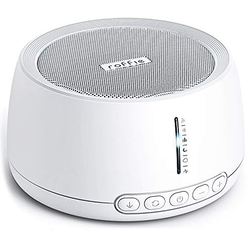 White Noise Machine, Roffie Sleep Sound Machine, 30 Natural Sounds Therapy for Baby/Adult, Timer&Memory Functions, Non-Looping Sounds, Portable for Nursery Home Office Travel, USB Powered