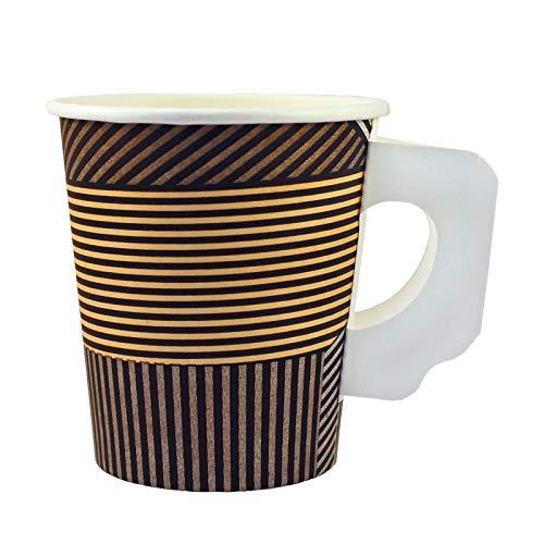 Enjoy Coffee to go Becher aus Hartpapier mit Henkel 0,18l, 100Stk, Pappbecher