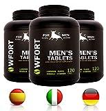 WFORT 120 Pastillas Hombre | Potenciador Masculino - Vigorizante & Booster de Testosterona | Potencia Extra y Energía
