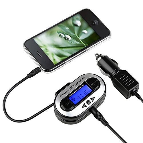 For Apple iPhone 4/4S - INSTEN All Channel FM Transmitter w/ USB Port [Black]